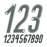 Modische Vektorziffernsammlung Moderne Kursivschrift kondensiert, hoch vektor abbildung