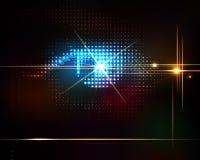 Modischer Hintergrund der abstrakten glänzenden Technologie. Stockfotos