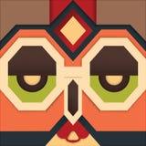 Modischer Hippie-Hintergrund im Maskendesign Lizenzfreies Stockfoto