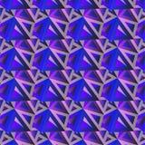 Modischer horizontaler geometrischer Hintergrund, Dreieckmusterfeld Stockbild