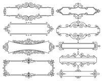 Modischer linearer Rahmen des Vektors mit Kopienraum für Text - Hochzeitseinladungs-Designschablone - dekorativer Hintergrund Stockfotografie