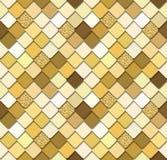 Modischer nahtloser Hintergrund des Paillettemosaiks mit Goldfunkelnelementen Schlangenhautbeschaffenheit Vervollkommnen Sie für  Stockfotografie