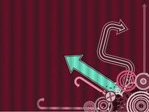 Modischer vektorpfeil-Hintergrund Stockfoto
