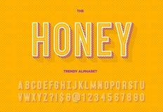 Modisches Alphabet des Honigs lizenzfreie abbildung
