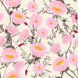 Modisches Blumenmuster in vielen Art von Blumen Stockbild