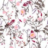 Modisches Blumenmuster in vielen Art von Blumen Tropischer Bot Lizenzfreie Stockbilder