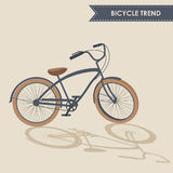 Modisches Fahrrad Lizenzfreies Stockfoto
