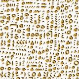 Modisches gelbes Gekritzel-und Zusammenfassungs-gezogenes mysteriöses stock abbildung