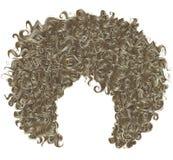 Modisches gelocktes blondes Haar kugelförmige Frisur Modeschönheitsart lizenzfreie abbildung