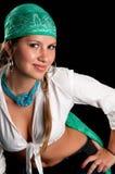 Modisches Mädchen Stockfoto