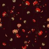 Modisches Muster der wilden Blume in vielen Art von Blumen Botanica Stockbild
