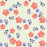 Modisches nahtloses Blumenmuster im Vektor Stockbild