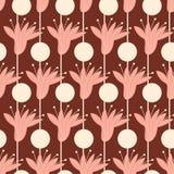 Modisches nahtloses Muster von geometrischen Formen und von Gekritzeln Buntes Muster stockfotos