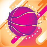 Modish basketball banner. Royalty Free Stock Photos