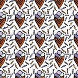 Modèle avec la crème glacée  Image libre de droits