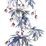 Modèle d'arbre de fleur Images libres de droits