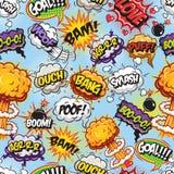 Modèle de bulles de bandes dessinées Photographie stock