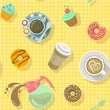 Modèle de café Images stock