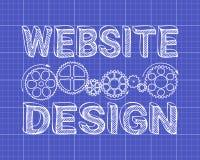 Modèle de conception de site Web Photos libres de droits