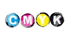 Modèle de couleur de CMYK Photographie stock