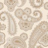 Modèle de dentelle sans couture de Paisley Photos libres de droits