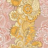 Modèle de fleurs de Mehndy Photos stock