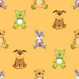 Modèle de fond de chat, de chien et de lapin Photos stock