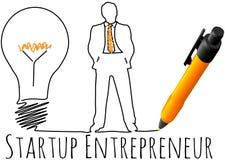Modèle de jeune entreprise d'entrepreneur Images libres de droits
