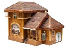 Modèle de la maison faite de bois Photos stock