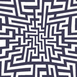 Modèle de labyrinthe de la géométrie d'abrégé sur graphique de vecteur fond géométrique sans couture pourpre de labyrinthe Images libres de droits