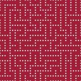 Modèle de labyrinthe de la géométrie d'abrégé sur graphique de vecteur fond géométrique sans couture rouge Images libres de droits