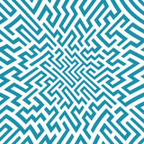 Modèle de labyrinthe de la géométrie d'abrégé sur graphique de vecteur Fond géométrique sans joint bleu Photo libre de droits
