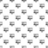 Modèle de moniteur d'ordinateur, style simple Image stock