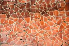 Modèle de mosaïque orange Photographie stock