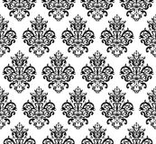 Modèle de répétition sans couture noir et blanc de vecteur Photographie stock libre de droits
