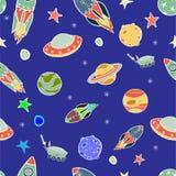 Modèle de vaisseau spatial Photo stock