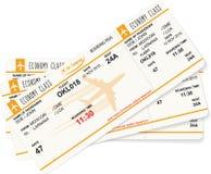Modèle de vecteur de trois cartes d'embarquement Photo libre de droits