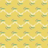Modèle de zigzag abstrait sans couture sur le fond jaune Photographie stock