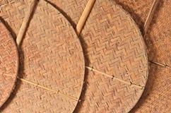 Modèle en bambou des fans Image libre de droits