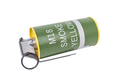 Modèle explosif de jaune de la fumée M18, armée d'arme, fuz synchronisé standard Image stock