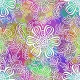 Modèle floral d'ensemble sans couture Image libre de droits