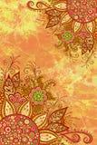 Modèle floral sur la peinture d'aquarelle Photographie stock