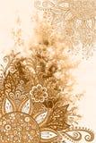 Modèle floral sur la peinture d'aquarelle Photo libre de droits
