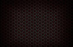 Modèle géométrique foncé abstrait des prismes Texture de grille de la géométrie La fleur de prisme figure le fond Maro rouge vert Images libres de droits
