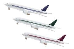 Modèle miniature des avions de ligne à réaction commerciaux Image libre de droits