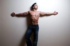 Modèle mâle de forme physique Image stock