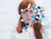 Modèle moléculaire de DMT Images libres de droits