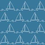 Modèle nautique sans couture de corde Photos stock