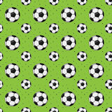 Modèle sans couture abstrait de ballon de football Image stock