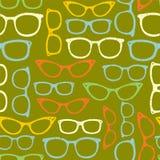 Modèle sans couture avec des lunettes. Photos libres de droits